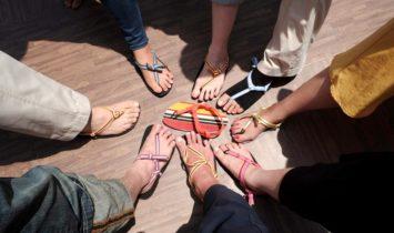 【感想レポ】横浜でワラーチ作って、チベット体操&たこ焼きパーティー♬
