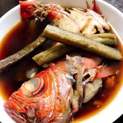 【ADIOまかない】金目鯛の煮付け